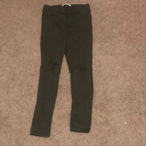 Gap size 27 easy leggings dark green  jeans
